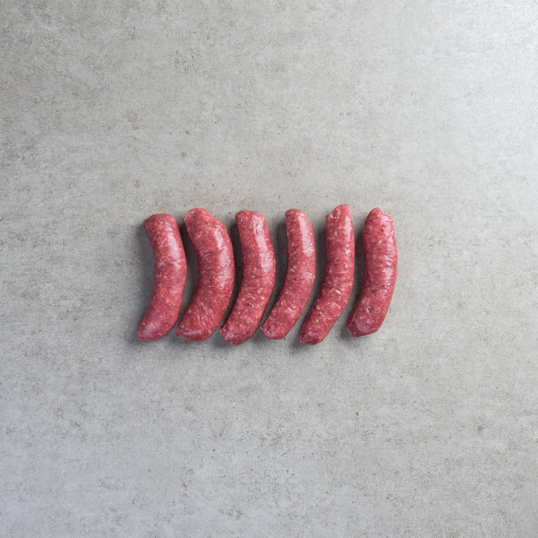 More views ofMoroccan beef sausages x 6